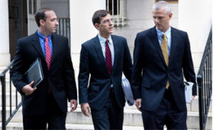 Bankruptcy Lawyers from Sasser Law Firm walking out of the courthouse